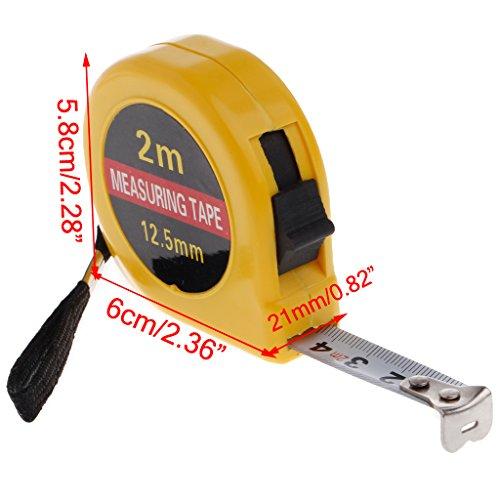 CHBC Mini Tape Measure 6FT/2M Metric, Sturdy Mark for Easily Reading- Portable Measuring Tape,Home DIY Garage Rule