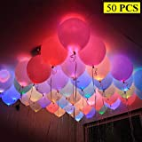 FishMM 12 inches LED Light up Balloons, Non-Flashing Light Balloons for Halloween Christmas Home Party Bar Wedding Birthday Decoration
