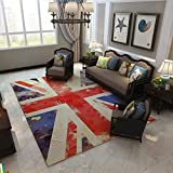 British Style Flag Patern Area Rugs for Living Room Home Decoraction , C , 160cm x 230cm