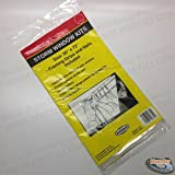 Storm Window Kit 36 x 72 Clear Heavy Gauge Plastic w/ Framing Strips and Nails Model: I-0374