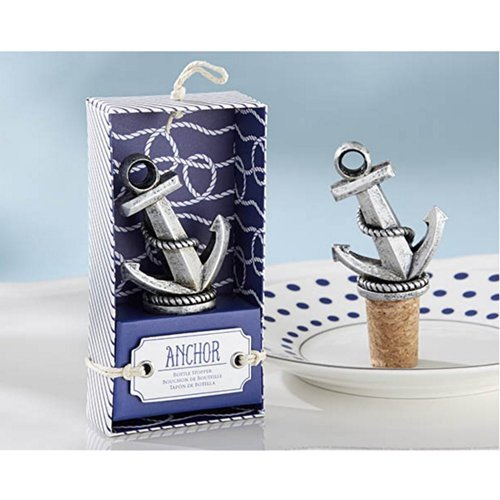 Nautical Anchor Bottle Stopper (pack of 10) by KA -