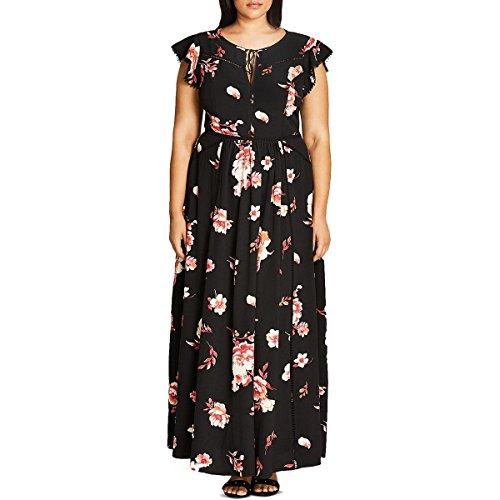 Floral Lover Maxi Dress in Fuschia - Size 16 / S ()