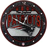 New England Patriots 12in Glass Wall Clock