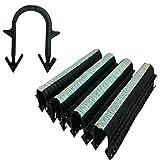 Underfloor Heating Tacker Pipe Clips 60 mm Extra Long Black UFH Staples (300)