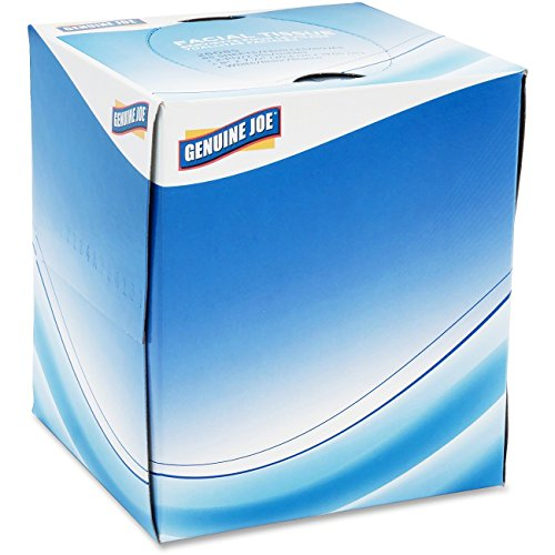 Price comparison product image Genuine Joe GJO26085 Cube Box Facial Tissue, 2-Ply, 85 per Box, White (Pack of 36)