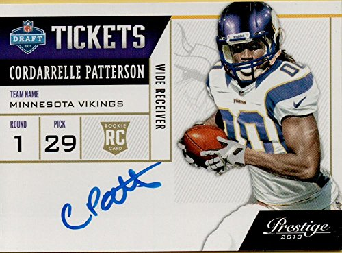 2013 Nfl Draft - Football NFL 2013 Prestige NFL Draft Tickets Signatures #1 Cordarrelle Patterson RC Rookie Auto Vikings