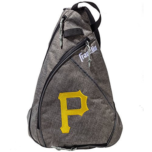 Franklin Sports Pittsburgh Pirates Slingback Baseball Crossbody Bag - Shoulder Bag w/Embroidered Logos - MLB Official Licensed Product
