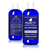 Dermatologist Recommended Organic Body Wash - Acne Body Wash for Sensitive Skin - Body Wash for Women, Men, and Kids - 100% Natural Body Wash, Paraben Free Body Wash, Sulfate Free Body Wash