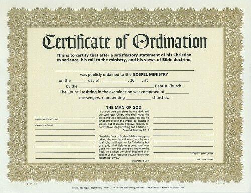 Certificate of Ordination - Ordination Certificate