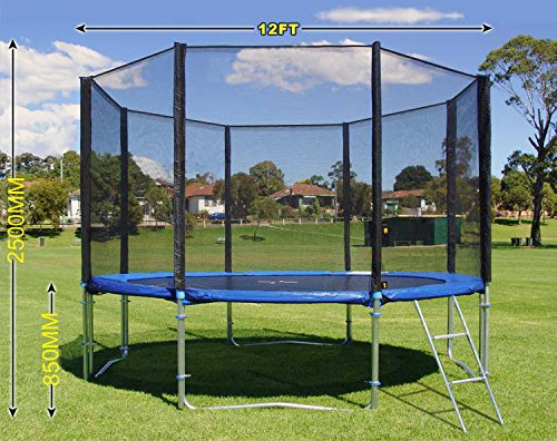 Puregadgets Master Series Top Grade 12ft Trampoline Safety Net Enclosure Netting Replacement (Net Only)