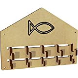 Azeeda 'Christian Fish' Wall Mounted Coat Hooks / Rack (WH00025220)