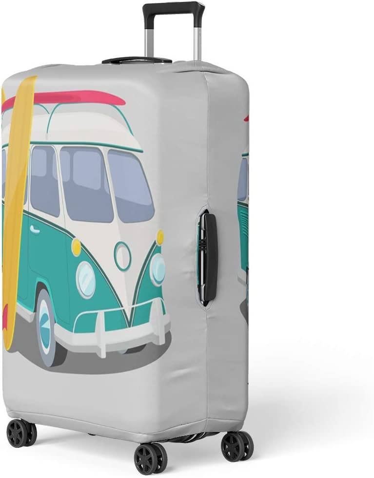 Amazon Com Semtomn Luggage Cover Bus Surfer Van Graphics Transportation And Surfing Sport Board Travel Suitcase Cover Protector Baggage Case Fits 26 28 Inch