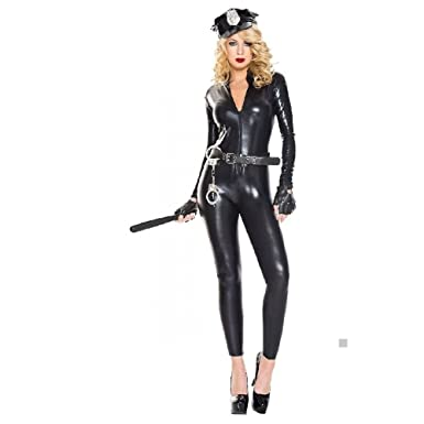 police costume set adult cop hat belt gloves handcuffs and baton halloween