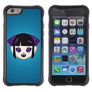 Hybrid Anti-Shock Defend Case for Apple iPhone 6 4.7 Inch / Vampire Girl