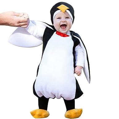d0436be70ed3b DAY8 Ensemble Bébé Garçon Hiver Bébé Unisexe Pingouin Animal Costume  Cosplay Combinaison Outfit Vêtements Bébé Fille