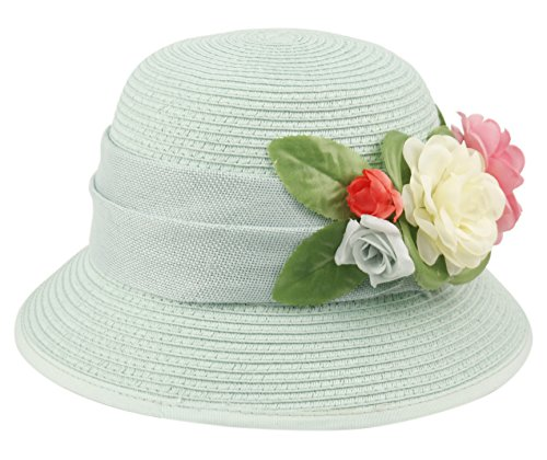 8e6364a793b Women s Gatsby Linen Cloche Hat with Lace Band and Flower (CL2796MINT) by  Epoch