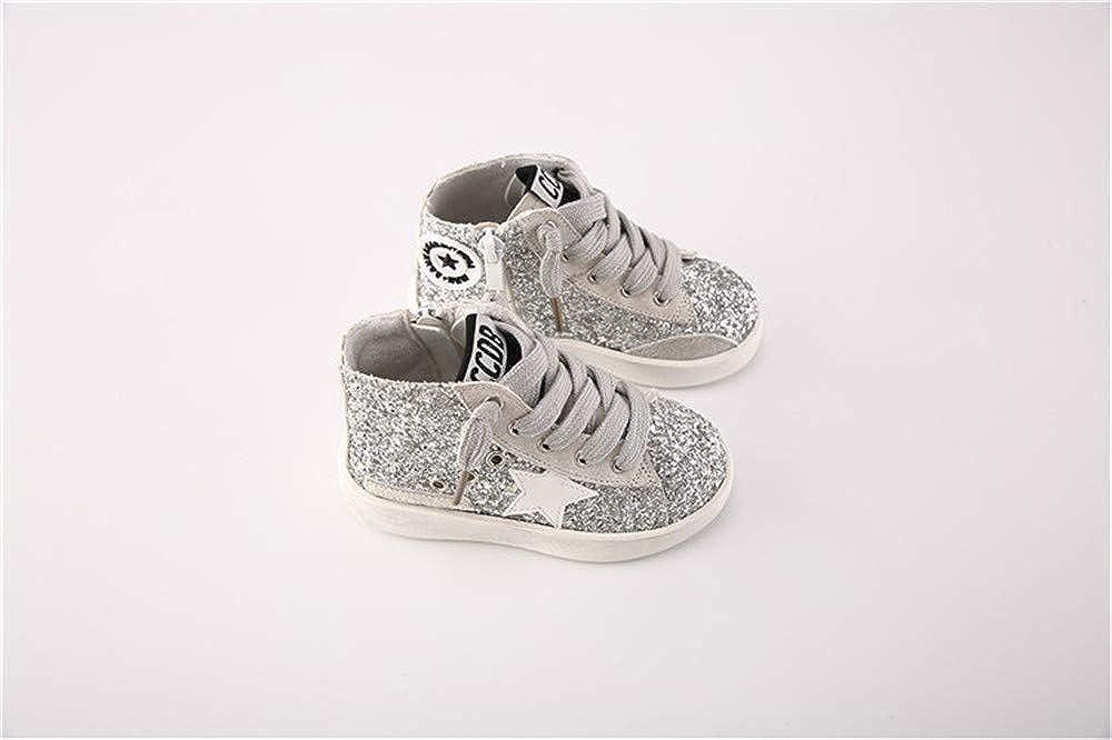 Kids Boys GirlsPlatform Canvas Sneakers High Top Star Pattern Sport Running Shoes Toddler//Little Kid//Big Kid
