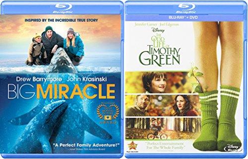The Odd Life of Timothy Green Disney & Big Miracle DVD + Blu Ray Family Movie Set Bundle