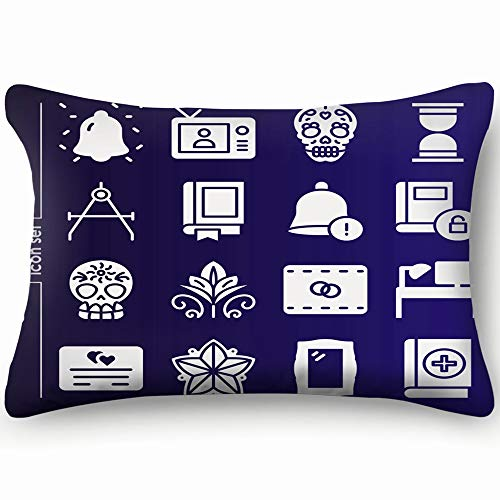 - best bags Simple Set 16 Icons Related Vintage Signs Symbols Art Home Decor Wedding Gift Engagement Present Housewarming Gift Cushion Cover 20X30 Inch
