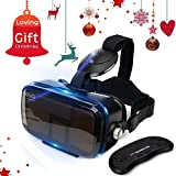 """ETVR 3D VR Headset With Remote Controller-More Comfortable Virtual Reality Headset VR Glasses For Movies and Games, Fit For 4.5""""-6.2"""" iPhone 7s/7/6/ 6s plus, Samsung Series and Other Smartphone Device"""