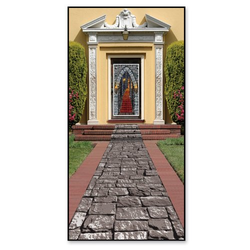 10' Stone (Beistle Beistle Stone Path Runner, 24-Inch by 10-Feet, Gray/Black/White)