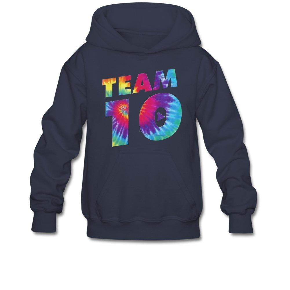 Aliensee Youth Colorful Team 10 Hoodie Sweatshirt Suitable for 10-15yr Old