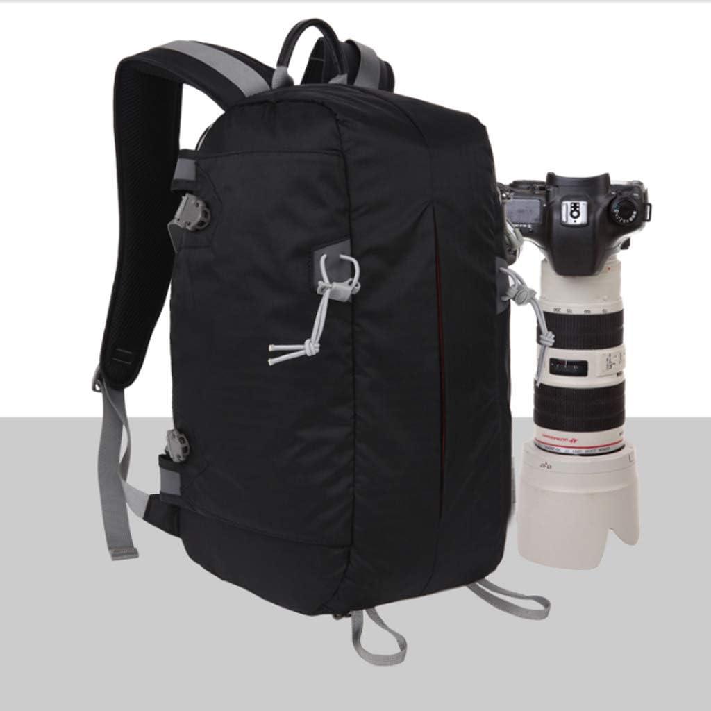 Waterproof Lightweight SLR Camera Backpack Shoulder Outdoor Camera Bag Professional Multi-Function Security Camera Bag Color : Black