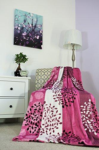 Jml Plush Light Weight Flannel Printed Blanket Throw, Blanke