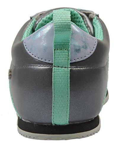 Leder mit Papillio schmalem 38 Größe Grau Blau Sneaker 247043 Damen Fußbett Sicilia xwCzqwnpgA