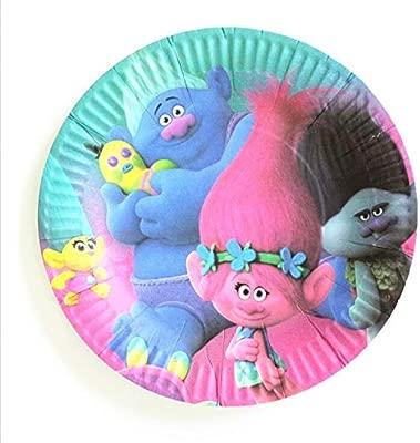 10 Unids/Set 7 Pulgadas Trolls Plate Children Party Supplies ...