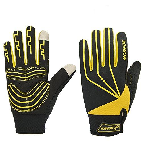 Women/Men Touch Screen Full Finger Gloves for Smartphone Yellow - 4