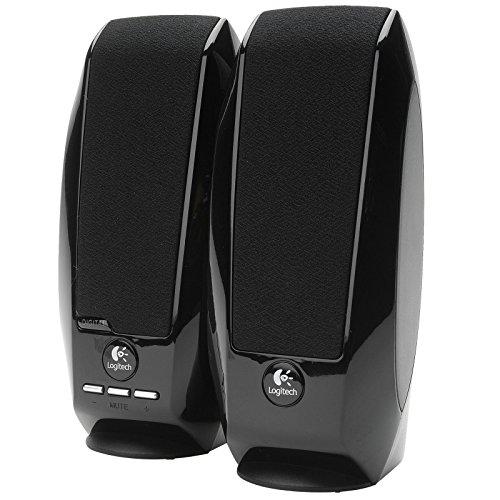 (Black Logitech S150 USB Speakers with Digital Sound, New,)