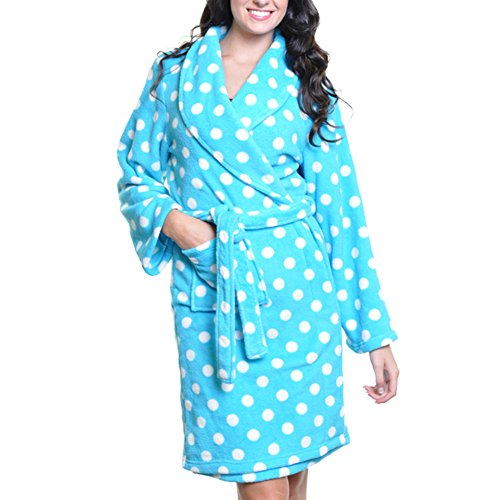 Angelina Premium Micro-Fleece Bathrobes #91159 Bubble Bath - Microfleece Bathrobe Womens