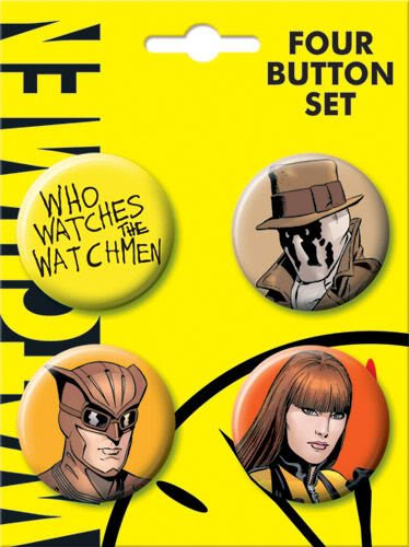 Watchmen Silk Spectre Nite Owl Rorschach 4 Piece Button Set