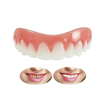 KAIMENG Quick Dentures prótesis dentales dentales chapa mandíbula superior dientes cosméticos sonrisa dientes blanqueamiento dentadura dientes