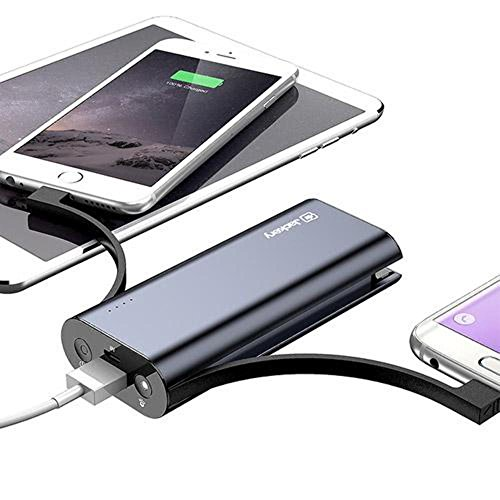 Apple MFI Certified Jackery Bolt 6000 mAh mega smal External Battery Charger transportable electricity Bank and trave Charger utilizing constructed in Lightning Micro USB Cables Black transportable electricity Banks