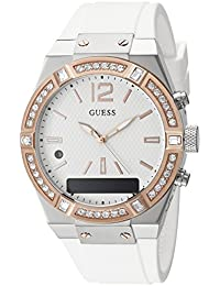 Women's Stainless Steel Connect Smart Watch - Amazon Alexa, iOS and Android Compatible iOS and Android Compatible, Color: White (Model: C0002M2)