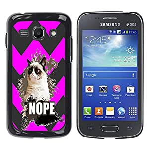 - Chevron Grumpy Cat - - Hard Plastic Protective Aluminum Back Case Skin Cover FOR Samsung Galaxy Ace3 s7272 S7275 Queen Pattern