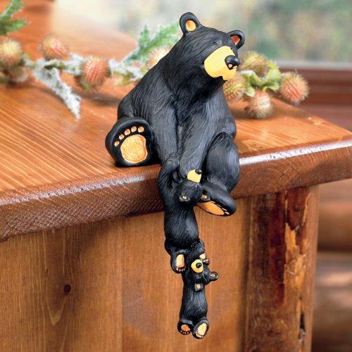 Black Bear Shelf Sitter - Rustic Decor