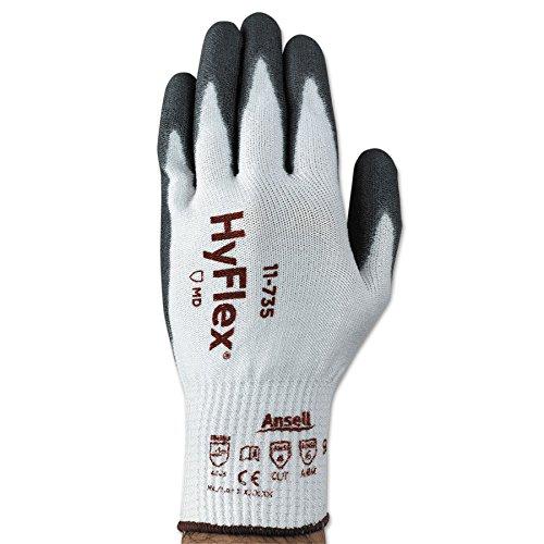 Lightweight Intercept Cut-Resistant Gloves, Size 10, White/Gray