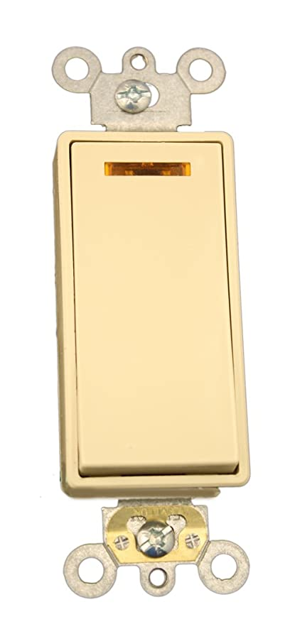 Leviton 56332I 20Amp 120Volt Decora Plus Rocker Lighted Handle