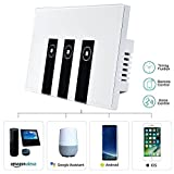 Wifi Smart remote light switch - Wall Touch Switch, Wireless Voice Control and Timer Switch, Work with Amazon Alexa Echo and Google Home, Control Your Fixtures from Anywhere with Smartphone App
