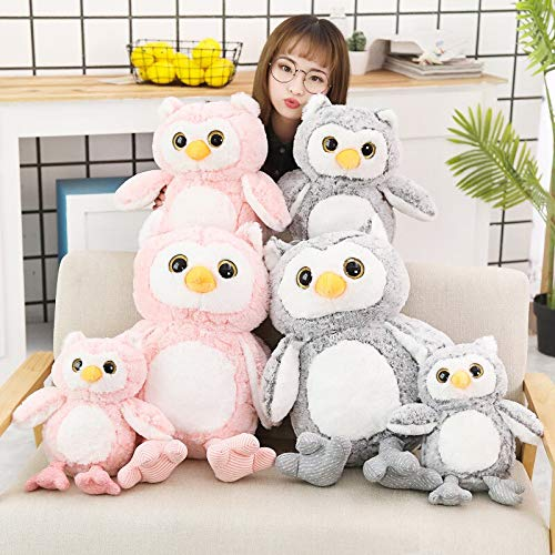 MANGMOC 37-69Cm 1Pc Cute Owl Plush Toys Lovely Kids Appease Animal Owl Pillow Dolls Stuffed Birthday Must Have Tools Friendship Gifts Girls Favourite Characters Superhero Classroom by MANGMOC