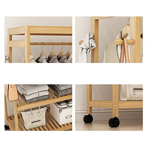 31d699a2cdff YX Xuan Yuan Wooden Coat Rack,Bamboo Coat Stand Solid Wood Coat Rack Hanger  Multi-Function Racks Clothes Rack Shoe Rack [4 Size Optional] Home Storage  ...