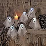Flashing Light Up Halloween Ghost Decoration Set