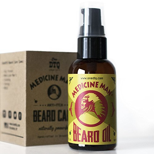 Medicine Man's Anti-itch Beard Oil 2 FL OZ - 100% Natural & Organic Leave-In Conditioner