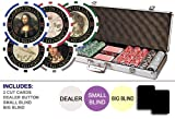DA VINCI Masterworks Poker Chip Set with 500 Chips with Denominations, 2 Decks of Cards, 3 Dealer Buttons and 2 Cut Cards