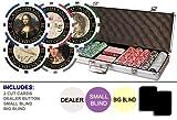 Da Vinci Masterworks Poker Chip Set w/500 Chips w/ Denominations, 2 Decks of Cards, 3 Dealer Buttons & 2 Cut Cards