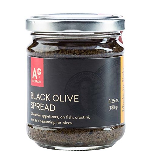 A.G. Ferrari, Spread, Black Olive, Pack of 12, Size - 6.35 OZ, Quantity - 1 Case by Agferr