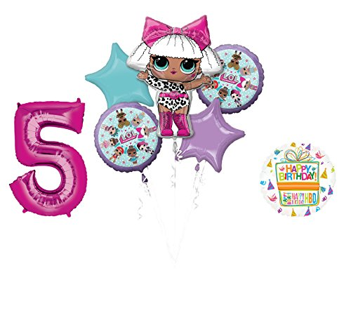 LOL Party Supplies 5th Birthday Balloon Bouquet -